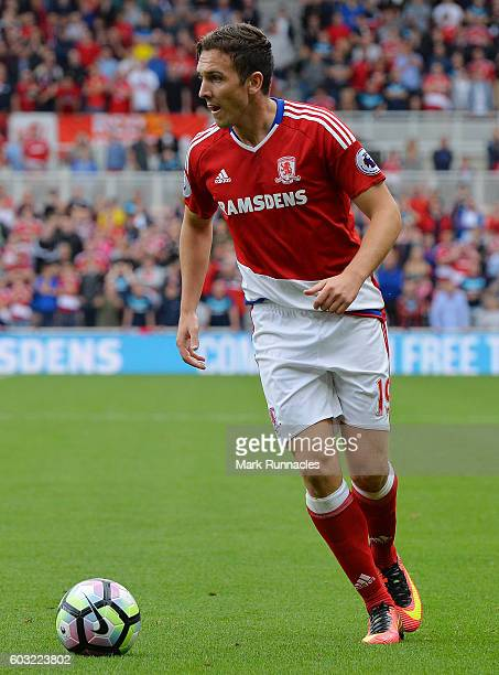 Stewart Downing of Middlesbrough in action during the Premier League match between Middlesbrough FC and Crystal Palace FC at Riverside Stadium on...