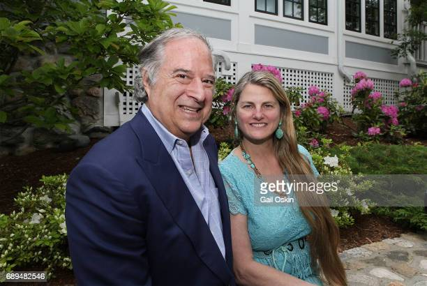 Stewart F Lane and Bonnie Comley attend A Special Celebration Honoring Virginia Comley at The Inn at Hastings Park in Lexington Massachusetts