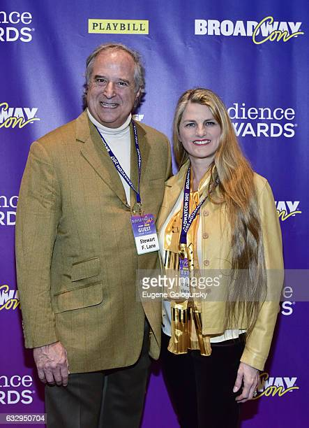 Stewart F. Lane and Bonnie Comley attend BroadwayCon 2017 at The Jacob K. Javits Convention Center on January 28, 2017 in New York City.