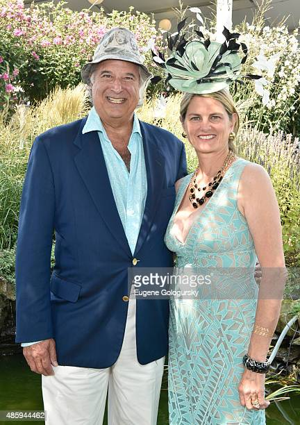 Stewart F Lane and Bonnie Comley attend the 40th Annual Hampton Classic at Hampton Classic Horse Show grounds on August 30 2015 in Bridgehampton New...