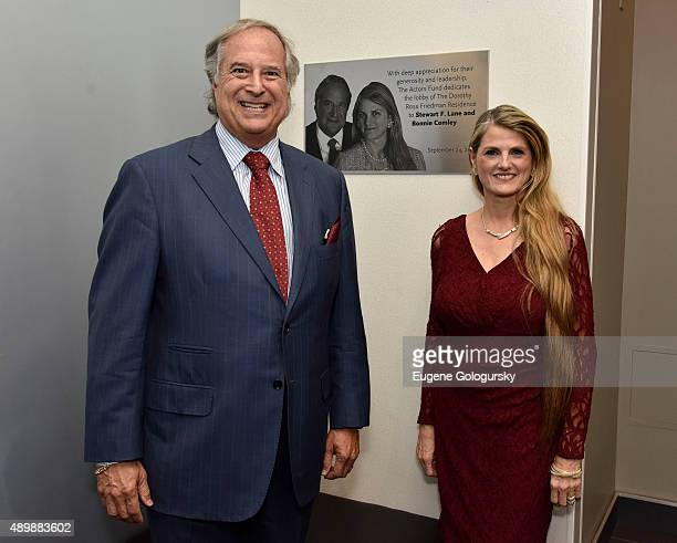 Stewart F Lane and Bonnie Comley attend The Actors Fund Dedication For Stewart F Lane Bonnie Comley at The Actors Fund Building on September 24 2015...