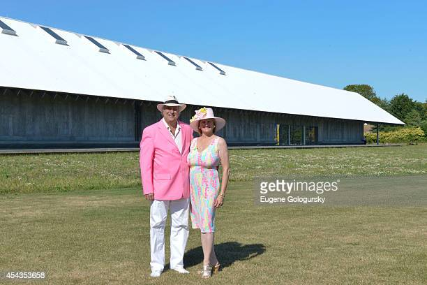 Stewart F Lane and Bonnie Comley attend the Naming Celebration For Stewart F Lane Bonnie Comley Event Lawn at the Parrish Art Museum on August 29...