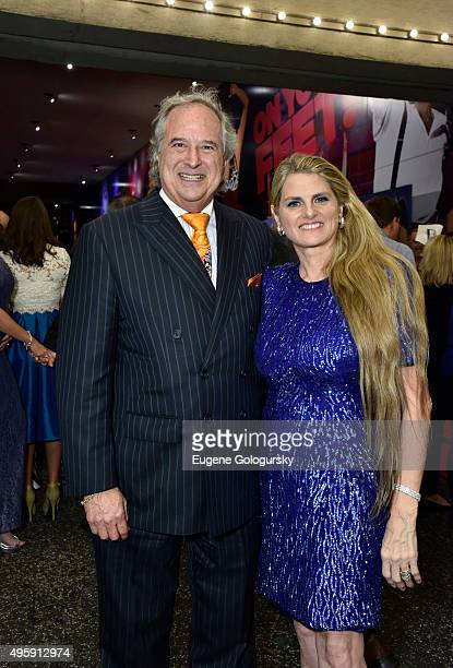 Stewart F Lane and Bonnie Comley attend the On Your Feet The Story Of Emilio Gloria Estefan Opening Night On Broadway At Marquis Theatre at Marriott...
