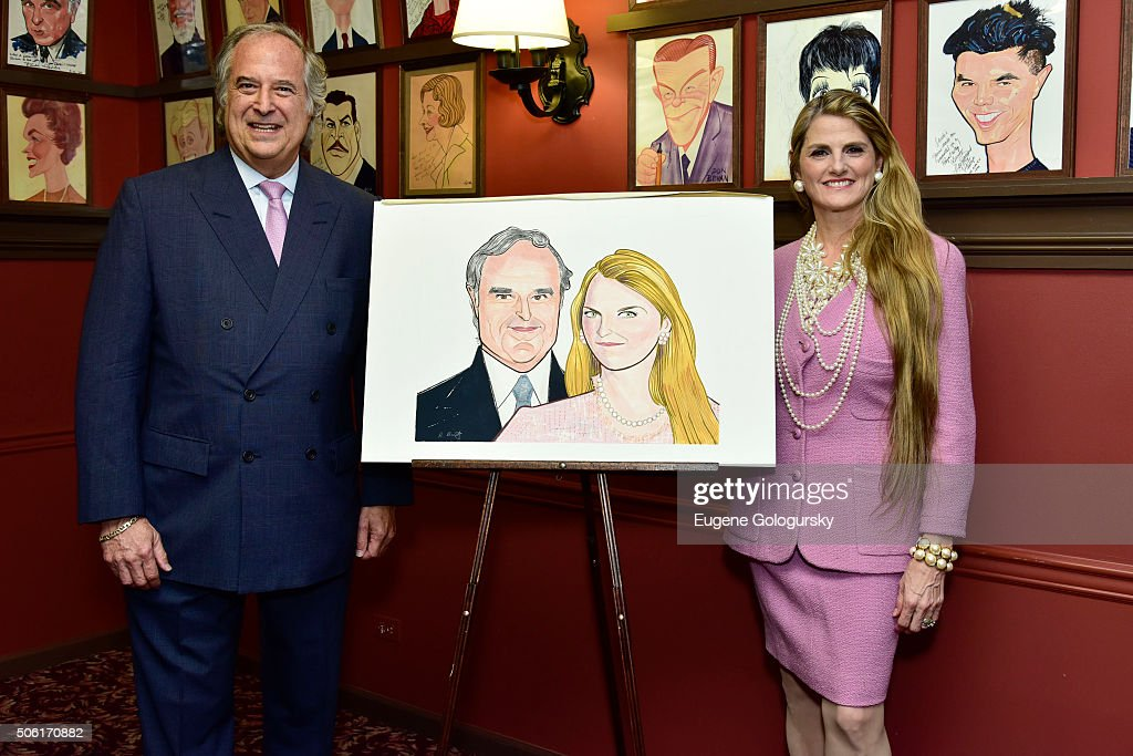 Sardi's Unveils Portrait Of Tony Award Winning Producers Stewart F. Lane And Bonnie Comley At Champagne Reception Hosted By The Actors Fund Of America