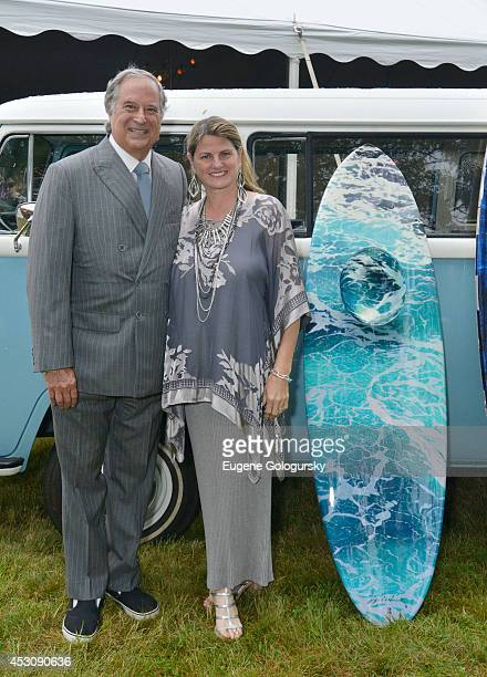 Stewart F Lane and Bonnie Comley attend the Southampton Hospital's 56th Annual Summer Party at Southampton Hospital on August 2 2014 in Southampton...