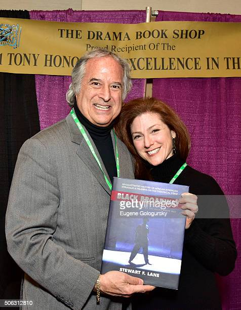 """Stewart F. Lane and Cyndi Owgang attend the Stewart F. Lane Book Signing Of """"Black Broadway"""" At BroadwayCon at New York Hilton on January 22, 2016 in..."""