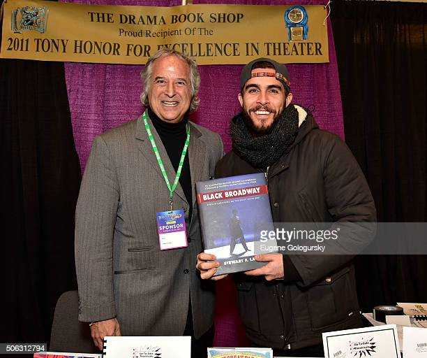 "Stewart F. Lane and Josh Segarra attend the Stewart F. Lane Book Signing Of ""Black Broadway"" At BroadwayCon at New York Hilton on January 22, 2016 in..."
