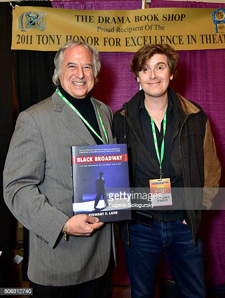 """Stewart F. Lane and Laurence O'Keefe attend the Stewart F. Lane Book Signing Of """"Black Broadway"""" At BroadwayCon at New York Hilton on January 22,..."""