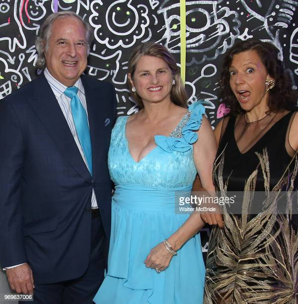 Stewart F Lane Bonnie Comley and Anita Durst Chashama Founder during The Chashama Gala at 4 Times Square on June 7 2018 in New York City