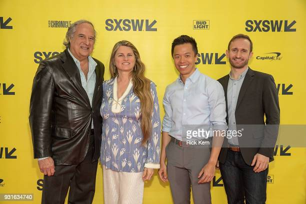 Stewart F Lane Bonnie Comley Clive Chang and Chris Herzberger attend the panel 'Keeping Performing Arts Alive in a Digital World' during SXSW at the...