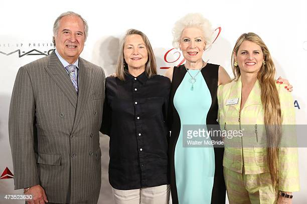 Stewart F Lane Cherry Jones Jano Herbosch and Bonnie Comley attend the 85th Annual Drama League Awards Ceremony and Luncheon at The New York Marriott...