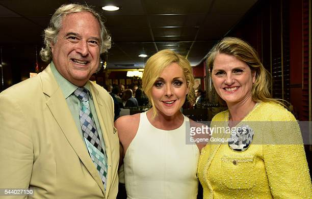 Stewart F Lane Jane Krakowski and Bonnie Comley attend BroadwayHD Roundabout Theatre Company's Live Stream Wrap Party at Sardi's on June 30 2016 in...