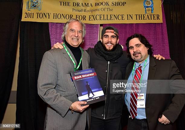 "Stewart F. Lane, Josh Segarra and Anthony Pomes attend the Stewart F. Lane Book Signing Of ""Black Broadway"" At BroadwayCon at New York Hilton on..."