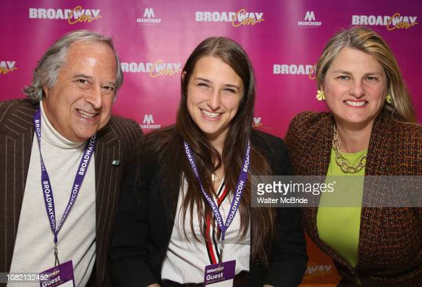 """Stewart F. Lane, Leah Lane and Bonnie Comley attend a reception for """"An Artist's Perspective of Stage to Screen"""" during BroadwayCon at the New York..."""