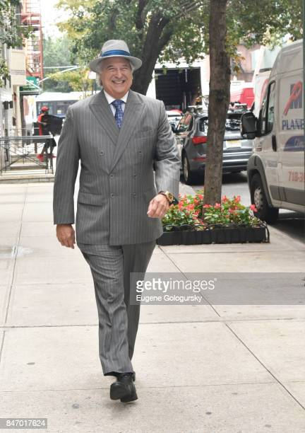 Stewart F Lane wearing bespoke Gieves Hawkes seen during NY Fashion Week on September 14 2017 in New York City