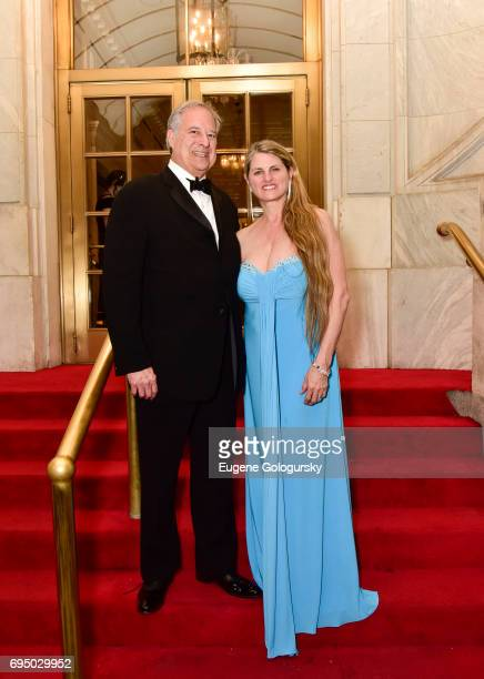 Stewart FLane and Bonnie Comley attend the 71st Annual Tony Awards After Party Arrivals at The Plaza Hotel on June 11 2017 in New York City