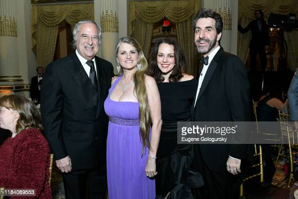 Stewart F.Lane, Bonnie Comley, Georgia Stitt and Jason Robert Brown attend the The 36th Annual Drama League Benefit Gala at The Plaza Hotel on...