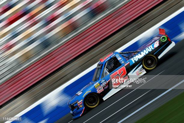 Stewart Friesen driver of the Halmar International Chevrolet practices for the NASCAR Gander Outdoors Truck Series North Carolina Education Lottery...