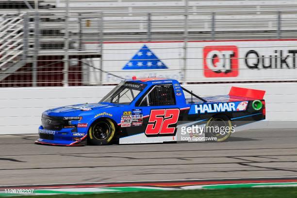 Stewart Friesen Halmar Friesen Racing Chevrolet Silverado Halmar International during practice for the Ultimate Tailgating 200 NASCAR Gander Outdoors...