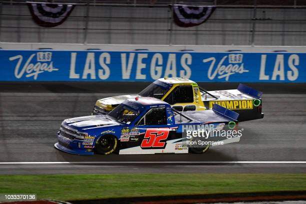 Stewart Friesen We Build America Chevrolet Silverado racing during the World of Westgate 200 NASCAR Camping World Truck Series Playoff Race on...