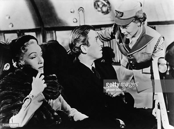 Stewart James Actor USA * Scene from the movie 'No Highway' with Marlene Dietrich and Glynis Johns Directed by Henry Koster Great Britain / USA 1951...