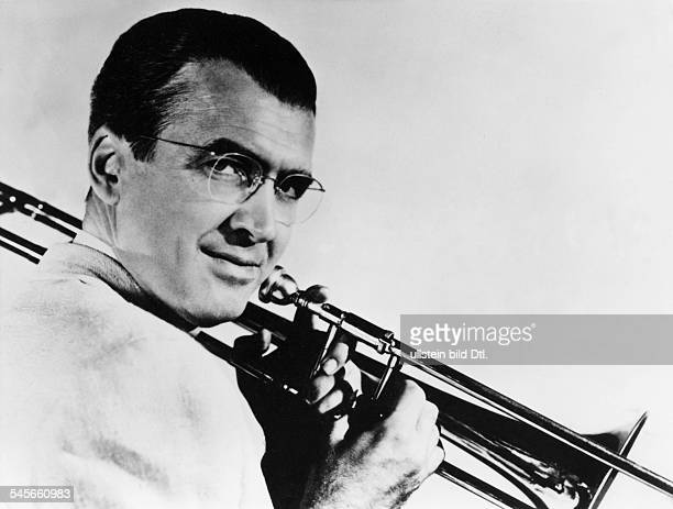 Stewart James Actor USA * Scene from the movie 'The Glenn Miller Story'' Directed by Anthony Mann USA 1954 Produced by Universal Pictures Vintage...