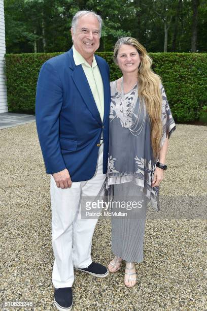 Stewart Lane and Bonnie Comley attend Katrina and Don Peebles Host NY Mission Society Summer Cocktails at Private Residence on July 7 2017 in...