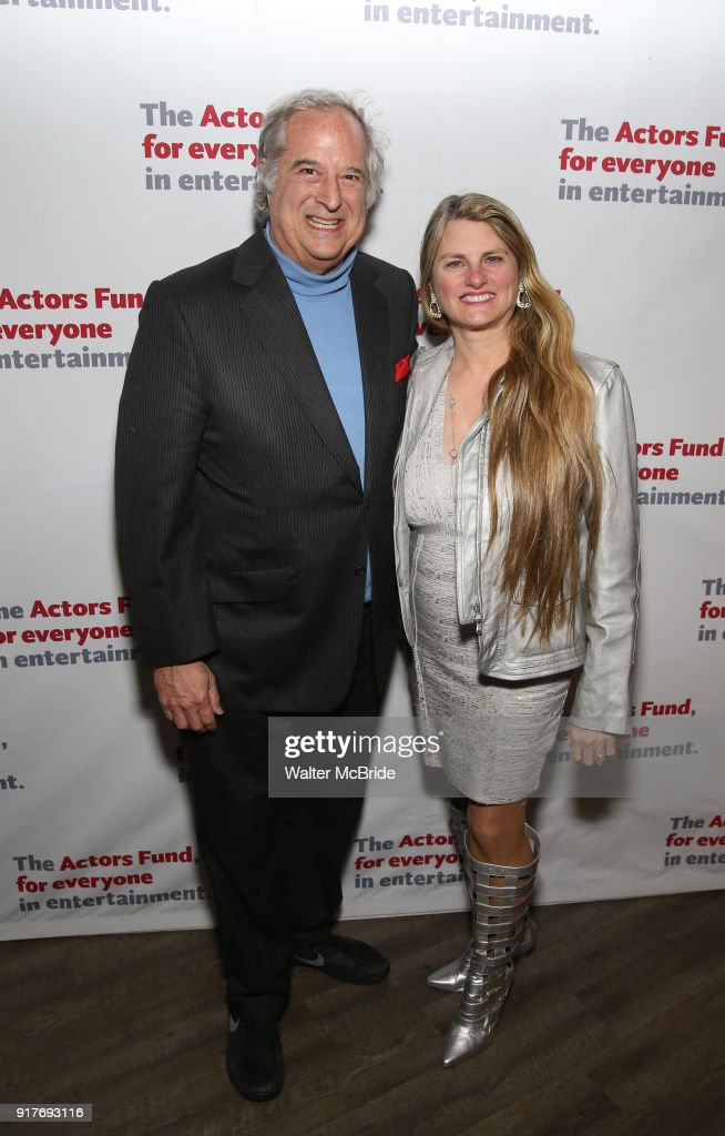 Stewart Lane and Bonnie Comley attend the after party for the Actors Fund's 15th Anniversary Reunion Concert of 'Thoroughly Modern Millie' on February 18, 2018 at the Opry City Stage in New York City.