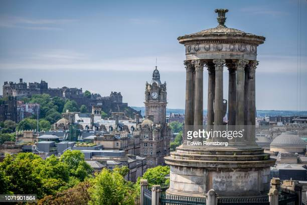 stewart monument - balmoral hotel stock photos and pictures
