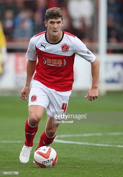 Stewart Murdoch of Fleetwood Town in action during the Sky Bet League Two match between Fleetwood Town and Chesterfield at Highbury Stadium on...