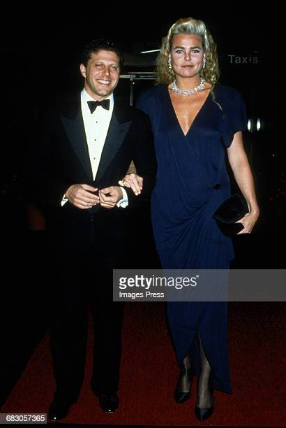 Stewart Sundland and Margaux Hemingway at the Moda Italia Gala promoting Italian trade circa 1989 in New York City