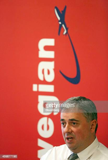 Stewart Wingate chief executive officer of London Gatwick airport speaks during a news conference in Crawley UK on Wednesday Dec 3 2014 Norwegian Air...