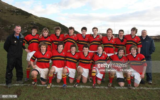 Stewart's Melville College team group from the Bell Lawrie U18 Cup Semi Final Berwick