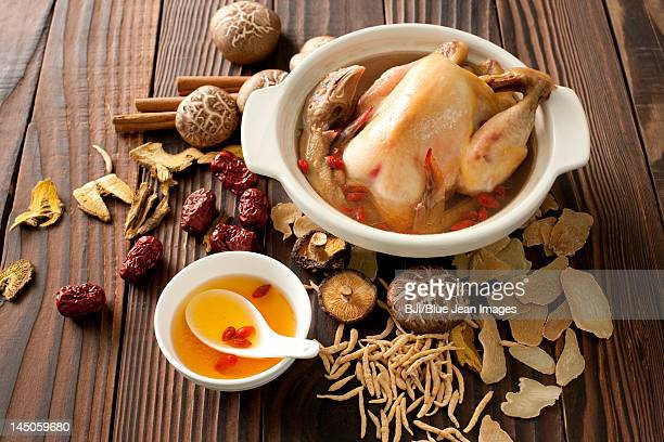 Stewed Chick with Mushrooms