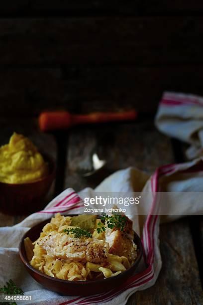 Stewed sea perch with sauerkraut
