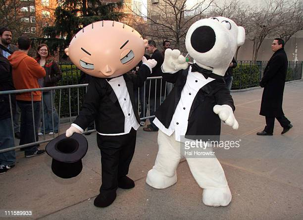 Stewie and Brian of Family Guy during 'Aqua Teen Hunger Force Colon Movie Film for Theaters' New York City Premiere Arrivals at Chelsea West Cinemas...