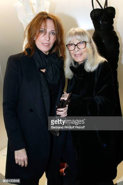 Stephanie Jarre and her mother Dany Saval attend the Azzedine Alaia Je Suis Couturier Exhibition as part of Paris Fashion Week Held at Azzedine Alaia...