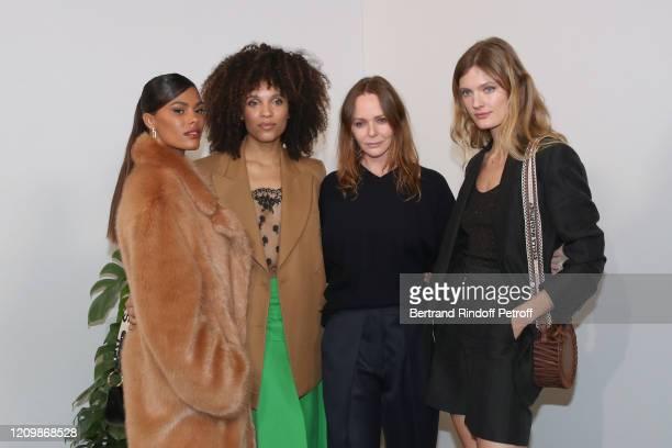 Stéfi Celma Tina Kunakey Designer Stella McCartney and Constance Jablonski pose after the Stella McCartney show as part of the Paris Fashion Week...