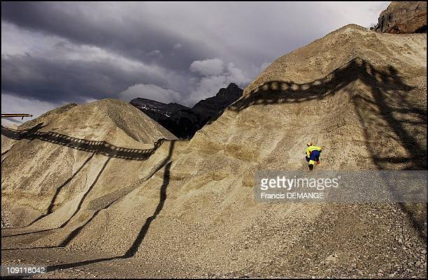 StGothard The Longest Tunnel In The World Pierces Through The Heart Of The Alps On November 1 2003 In Amsteg Switzerland Amsteg Northern Part Of The...