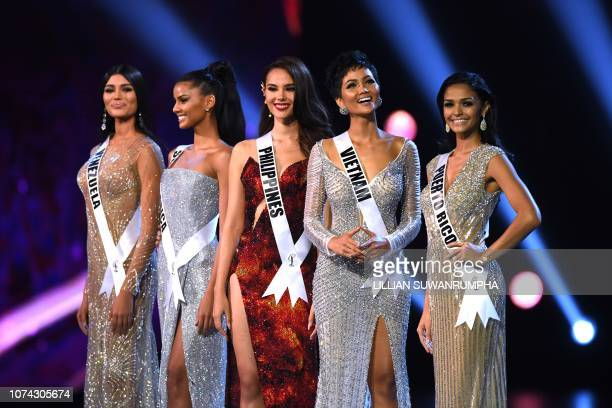 Sthefany Gutierrez of Venezuela Tamaryn Green of South Africa Catriona Gray of the Philippines H'Hen Nie of Vietnam and Kiara Ortega Puerto of Rico...