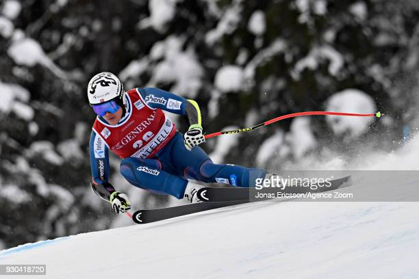 Stian Saugestad of Norway competes during the Audi FIS Alpine Ski World Cup Men's Super G on March 11 2018 in Kvitfjell Norway