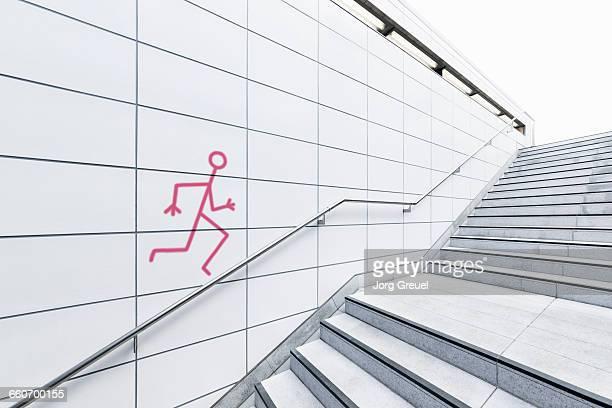 Stick figure sprayed on a wall