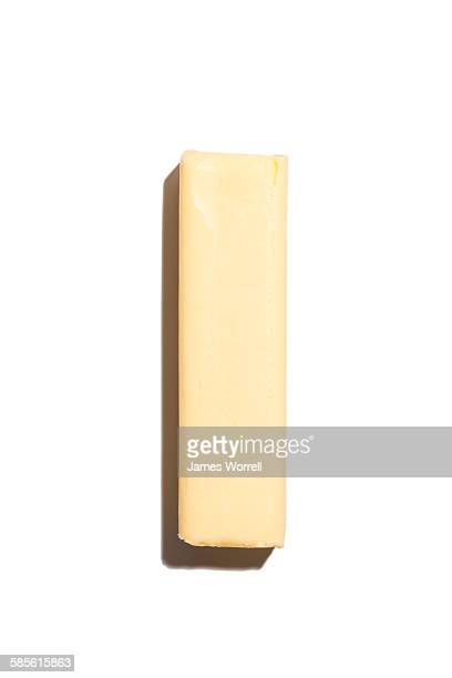 Stick of Butter on white - hard shadow