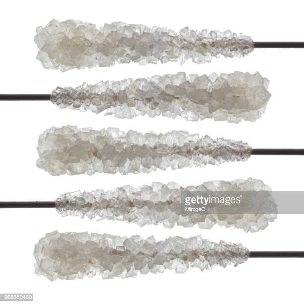 stick of hard rock candy stirrer - rock object photos et images de collection