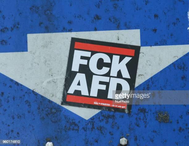 sticker is seen in Munich