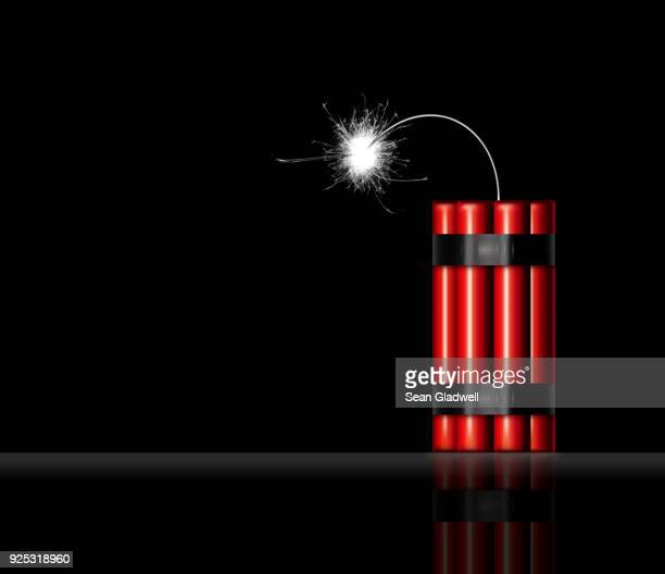 sticks of red dynamite - bombing stock pictures, royalty-free photos & images