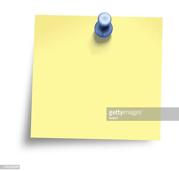 sticky note - loops7 stock photos and pictures