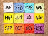 sticky notes calendar