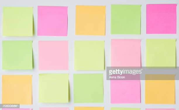 Sticky notes generated square shape. Debica, Poland
