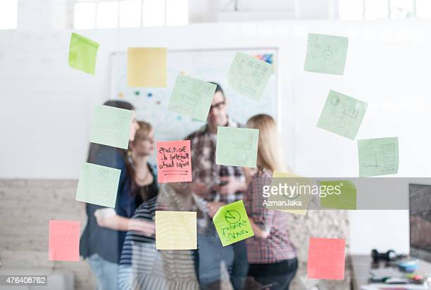 Sticky notes in the office